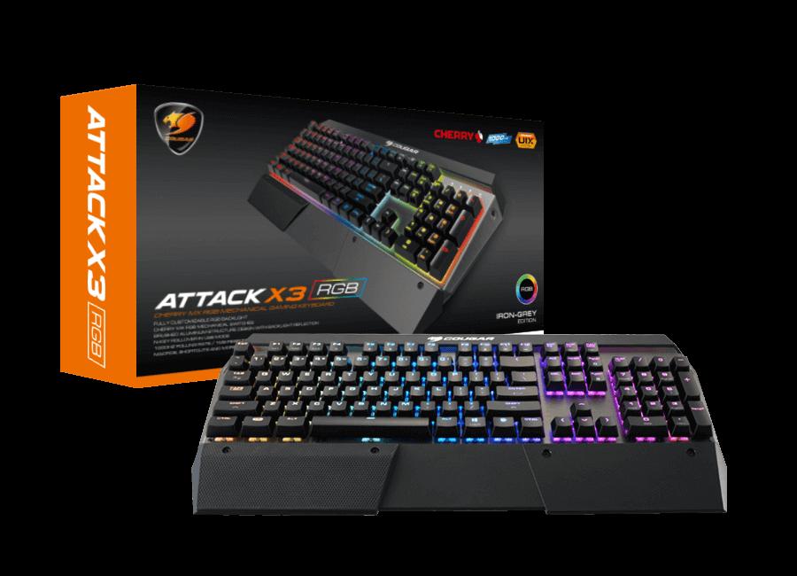 0b7419b2622 Cougar Attack X3 RGB CG-KB-ATTACK X3-BLK Gaming Keyboard > Keyboards ...