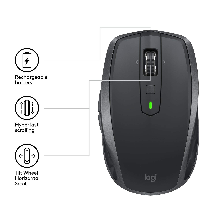 Logitech MX Anywhere 2S Mouse Dark Grey - 910-005153