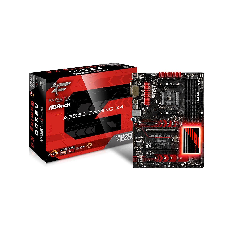 Asrock Fatal1ty Ab350 Gaming K4 Socket Am4 Amd B350 Ddr4 Multi Core X8 4x Super Fans Upto 17 Deepcool Notebook Cooler Sata3usb30