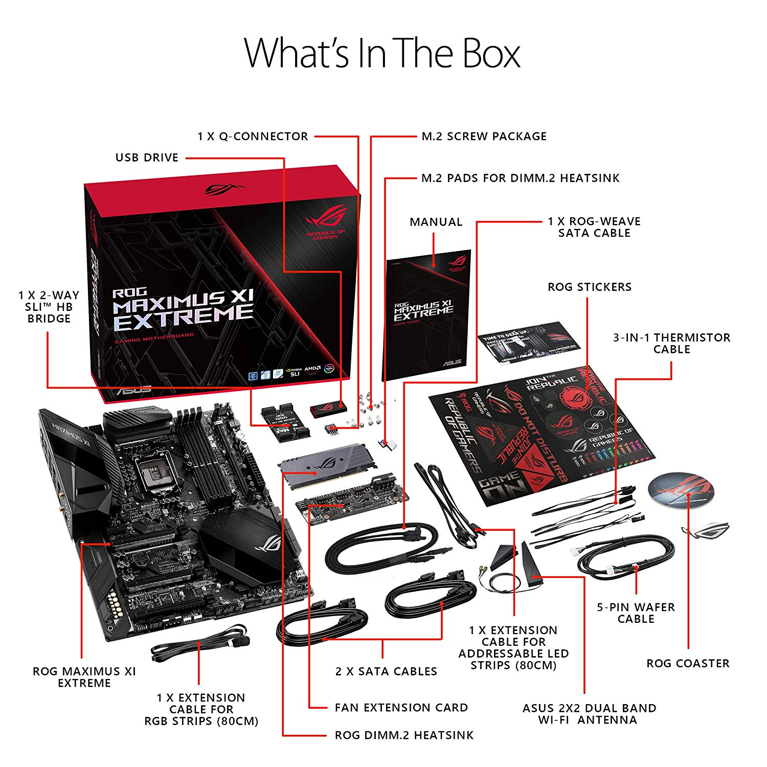 Asus ROG Maximus XI Extreme Z390 Gaming Motherboard LGA1151 (Intel 8th and  9th Gen) EATX DDR4 HDMI M 2 USB 3 1 Gen2 Onboard 802 11ac WiFi