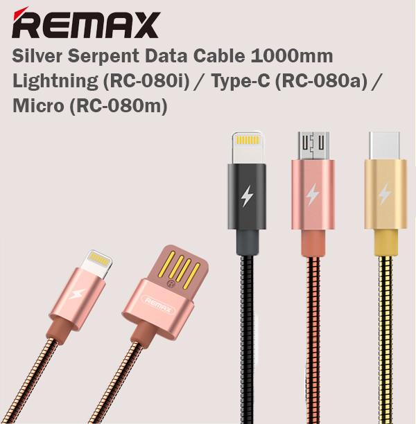 REMAX RC-080a 1m USB to USB-C / Type-C Data Sync Charging Cable - Black > USB Cable > ADVANTI