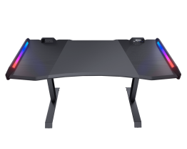 Cougar Mars Gaming Desk, Dual- RGB Lighting Effect, Steel Frame, Carbon Fiber CG-DESK-MARS-BLK