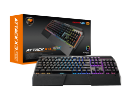 Cougar Attack X3 RGB CG-KB-ATTACK X3-BLK Gaming Keyboard