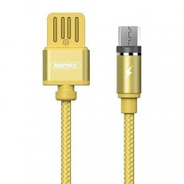 Remax RC-095m Gravity series Magnetic Adaptor MicroUSB Cable - Gold