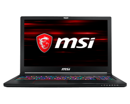MSI GS63 Stealth 8RE Intel Coffee lake i7-8750H, 16GB DDR4 RAM, Ultra slim 15.6'' FHD,  GTX 1060 6GB GDDR5, 256GB NVMe SSD +1TB SATA 7200rpm, Windows 10 Home Gaming Laptop, 1 Year Warranty