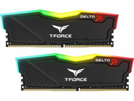 Team Group Delta RGB Series Black 8GB (2x4GB) 3000MHz DDR4 CL16 Desktop Memory - TF3D48G3000HC16CDC01