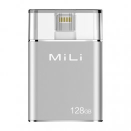 Mili iData Pro External Storage for Apple Lighting Devices - 128GB Silver