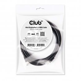 Club 3D Mini DisplayPort 1.2 HBR2 Cable M/M 2m/6.56ft