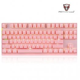 MOTOSPEED Bluetooth Mechnical Keyboard PINK With BLUE Switch- MOTO GK82 P/BLUE (6 Month Warranty)
