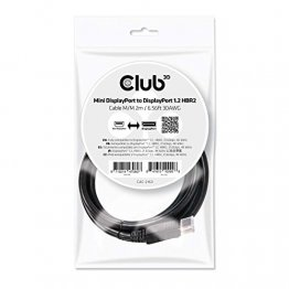 Club 3D Mini DisplayPort to DisplayPort 1.2 M/M 2m/6.56ft