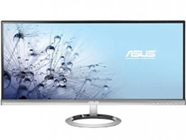 Asus MX299Q 29 inch Widescreen 80,000,000:1 5ms DVI/HDMI/Displayport LED LCD Monitor, w/ Speakers (Silver+Black)