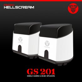 FANTECH GS 201 Hell Scream Gaming Super Bass Speakers-White-FANTECH GS-201/WH