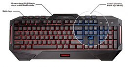 Asus Cerberus Arabic/English LED Backlit USB Gaming Keyboard with Splash-Proof Design - 90YH00R1-B2ZA00
