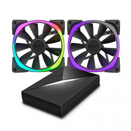 NZXT Aer RGB120 & HUE+ RF-AR120-C1 120mm Bundle Pack Aer RGB Fans with HUE+ Controller