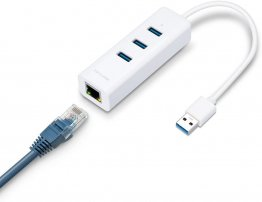 TP-LINK UE330 USB 3.0 3-Port Hub & Gigabit Ethernet Adapter 2 in 1 USB Adapter