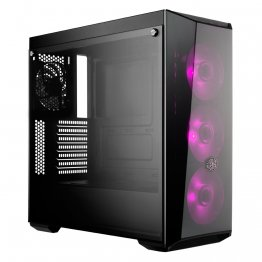 Cooler Master MasterBox Lite 5 RGB ATX Mid-Tower with 3 RGB Fans Tempered Glass Side Panel & External - CECMMCW-L5S3-KGNN-0