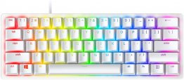 Razer Huntsman Mini 60% Gaming Keyboard-Mercury/  White with Red Switches-RZ03-03390400-R3M1