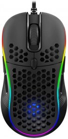 DREVO Owlet Wired RGB Lightweight Gaming Mouse