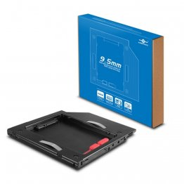 Vantec MRK-HC95A-BK SSD/HDD Aluminum Caddy for 9.5mm ODD Laptop Drive Bay (Black)