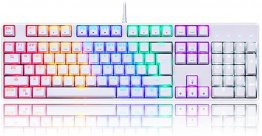 MOTOSPEED Wired Mechnical Keyboard Rainbow White Color With Blue Switch- MOTO CK107(6 Month Warranty)