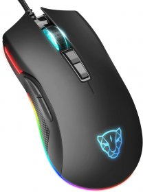 MOTOSPEED Wired Gaming Mouse ZEUS6400 Black- MOTO V70 BLACK (6 Month Warranty)