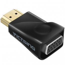 VicTsing Gold-Plated HDMI to VGA Converter Adapter for PC, Laptop, DVD, Desktop and other HDMI Input Devices - Black