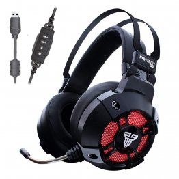 Fantech HG11 7.1 Surround Sound USB PC Stereo Gaming Headset With Microphone Volume Control RGB LED Light