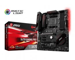 MSI X470 GAMING PRO Socket AM4/ AMD X470/ DDR4/ SATA3&USB3.1/ 3-Way CrossFireX/ M.2/ A&GbE/ ATX Motherboard