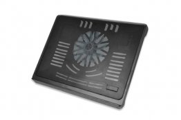 "Ednet Notebook Cooling Stand for up to 17.3"" 140 mm fan height adjustable, black - 64029"
