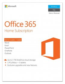 Microsoft Office 365 Home 32-Bit/X64 1-Year Subscription - 6GQ-00732
