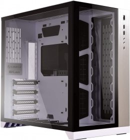 LIAN LI PC-O11 Dynamic White Tempered Glass on the Front and Left Sides, Chassis Body SECC ATX Mid Tower Gaming Computer Case - PC-O11DW