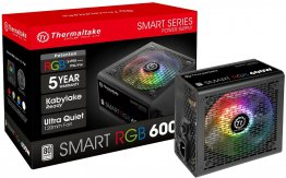 Thermaltake Smart RGB 600W Non-Modular 80 Plus White ATX Power Supply