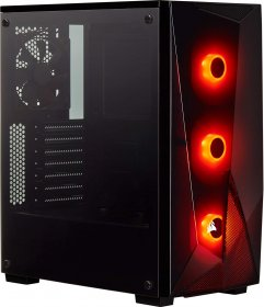 Corsair Carbide Series SPEC-DELTA RGB Tempered Glass Mid-Tower ATX Gaming Case, Black (CC-9011166-WW)