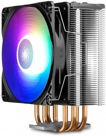 DEEPCOOL GAMMAXX GT A-RGB CPU Cooler w/ RGB Controller - 4 shaped Heatpipes, 120mm Addressable RGB PWM Fan