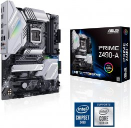 ASUS PRIME Z490-A LGA 1200 (Intel 10th Gen) Intel Z490 SATA 6Gb/s ATX Intel Motherboard (14 DrMOS Power Stages, Dual M.2, Intel 2.5Gb Ethernet, USB 3.2 Front Panel Type-C, Thunderbolt 3 Support, Aura Sync RGB)