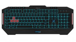 ASUS Cerberus MKII Multi-Color Backlit Gaming Keyboard -  90YH0131-B2ZA00