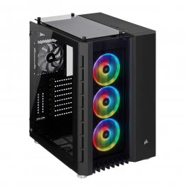 Corsair Crystal Series 680X RGB CC-9011168-WW Black Steel / Plastic High Airflow Tempered Glass ATX Smart Case - Black