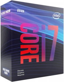 8-core Intel Core i7-9700F processor up to 4.7 GHz, No Integrated Graphics, LGA1151 300 Series 65W processor graphics (BX80684I79700F)