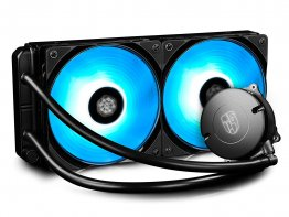 Deepcool Maelstrom 240 RGB, 240mm AIO CPU Liquid Water Cooler, AM4 Compatible