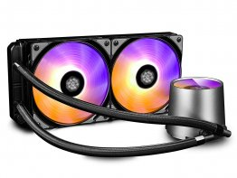 Deepcool Castle 240 RGB 240mm Extreme Performance All-In-One RGB Liquid CPU Cooler, AM4 Compatible