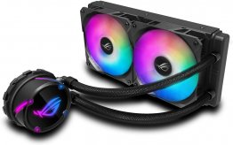 Asus ROG Strix LC 240 RGB all-in-one liquid CPU cooler with Aura Sync - Black