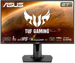 "ASUS TUF Gaming VG279QM 27"" Full HD 280Hz  2 x HDMI, DisplayPort G-SYNC ELMB SYNC HDR Built-in Speakers LED Backlit IPS Gaming Monitor"