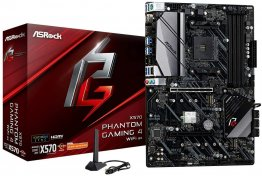 ASRock X570 PHANTOM GAMING 4 WIFI AX Socket AM4/ AMD X570/ DDR4/ PCIE 4.0/ SATA3&USB3.2/ M.2/ A&GbE/ WIFI&BT/ HDMI/ DP ATX Motherboard