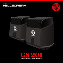 FANTECH GS 201 Hell Scream Gaming Super Bass Speakers-Black-FANTECH GS-201/BLK