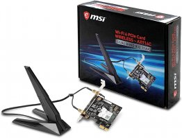 MSI AX905C Dual Band WiFi 6 with Bluetooth 5 PCI-E x1 Card for Desktop Computer