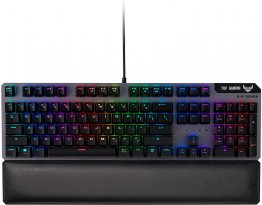 Asus TUF Gaming K7 Optical-Mech Gaming Keyboard with Linear Switch, Detachable Wrist Rest, IP56 Waterproof Standard and Aura Sync RGB Lighting