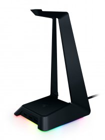 Razer Base Station Chroma, RGB Enabled Headset Stand with USB Hub, 16.8 Million Color Combinations - RC21-01190100-R3M1