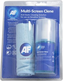AF Multi Screen Clean Spray With Large Micro Fibre Cloth 200ml