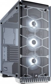 Corsair Crystal Series 570X RGB - Tempered Glass Premium ATX Mid -Tower Case - White - CC-9011110-WW