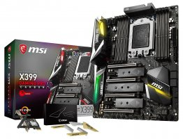MSI X399 GAMING PRO CARBON AC Socket TR4/ AMD X399/ DDR4/ SATA3&USB3.1/ 4-Way CrossFireX & 4-Way SLI/ M.2/ WiFi/ A&GbE/ ATX Motherboard